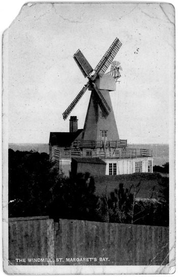 Windmill built in 1929 for a private house on the cliffs to generate electricty