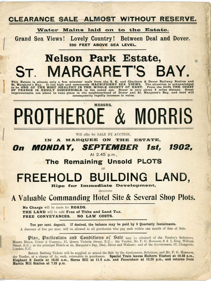 Selling land at Nelson Park 1902