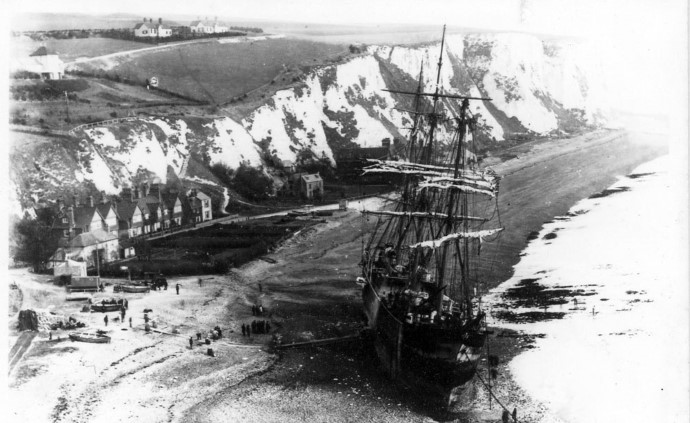 St Margaret's Bay and the beached 'Firth of Cromarty' 1894