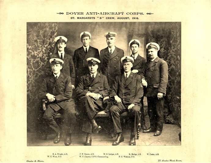 St Margarets B Crew Dover Anti aircraft corps 1916